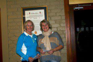 Jenni Murphy and Jo Edwards Ladies Doubles Winners