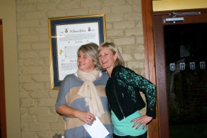 Jo Edwards and Wendy Whitehead A Grade Ladies Finalists
