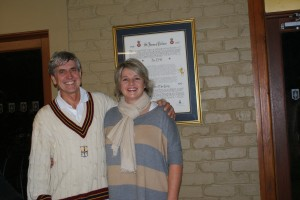 Wayne Spring and Jo Edwards Mixed Doubles Winners