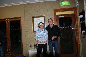 Will Hoskin Junior Winner and Brett McFarlane
