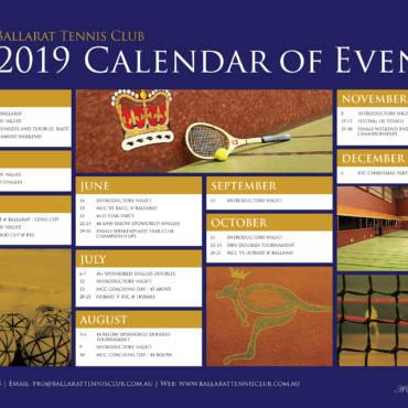 2019 Calendar of Events